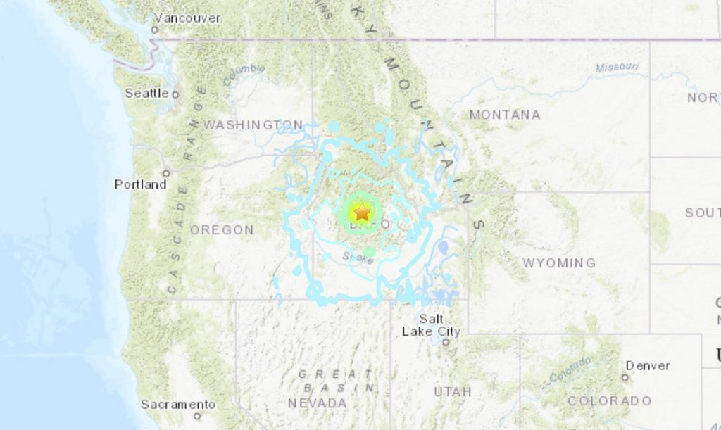 M6.5 earthquake idaho march 31 2020, M6.5 earthquake idaho march 31 2020 video, M6.5 earthquake idaho march 31 2020 map, M6.5 earthquake idaho march 31 2020 pictures