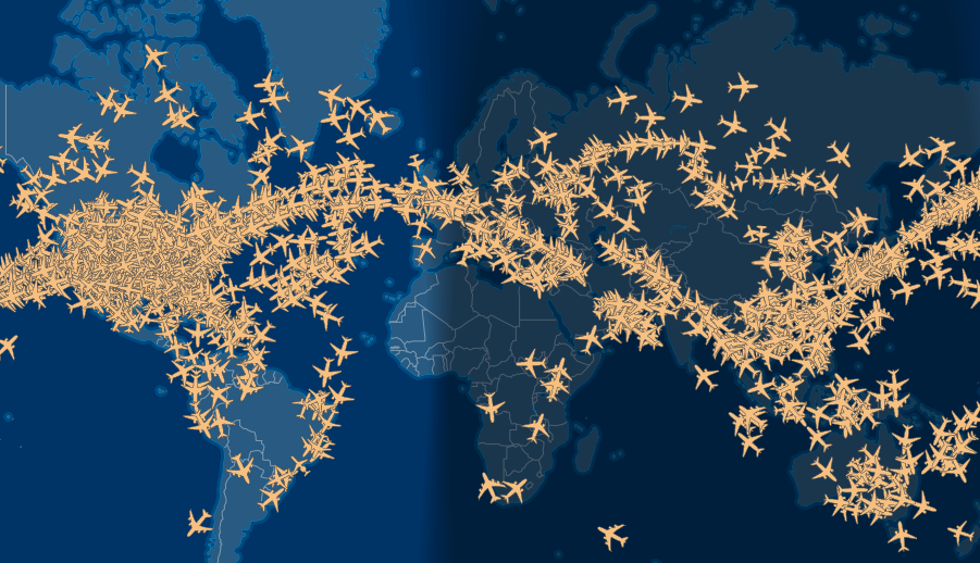 Thousands of airplanes still flying around during this CV crisis