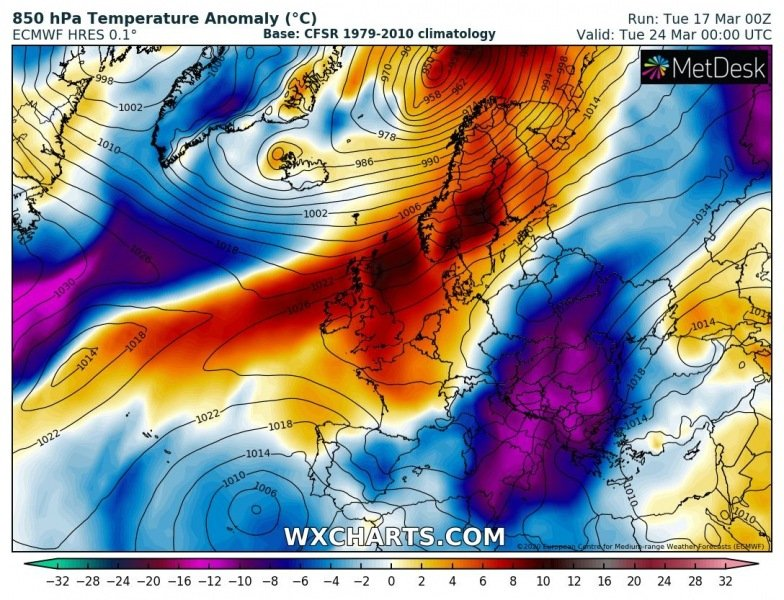 europe arctic blast march 2020