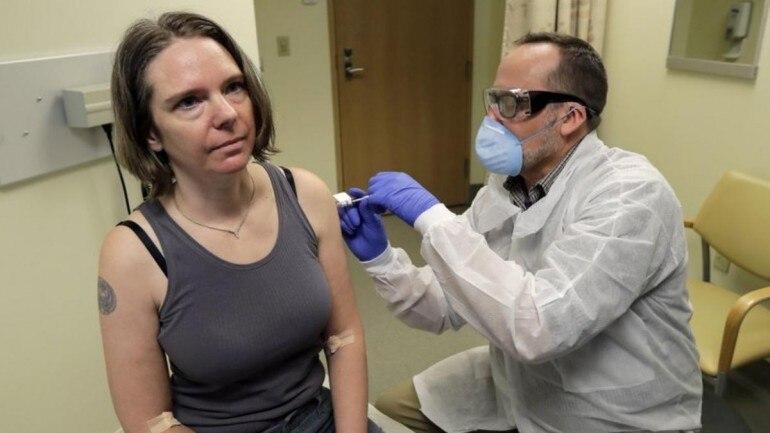 Jennifer Haller, first person test coronavirus vaccine interview, first person test coronavirus vaccine interview video, first person test coronavirus vaccine interview nbc