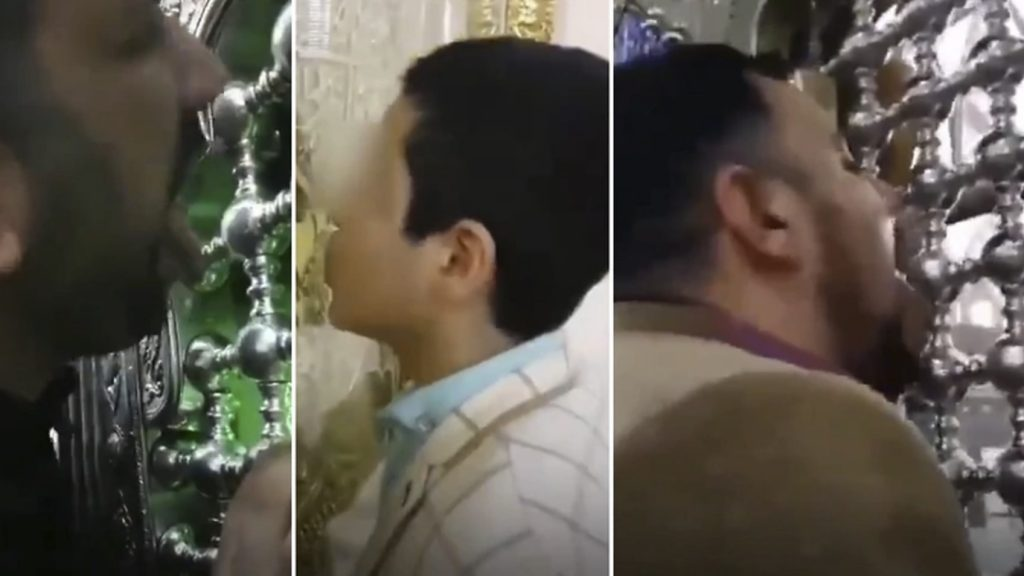 Iran coronavirus outbreak is going out of control with videos showing people kissing and licking sacred shrines on videos, iran coronavirus,iran coronavirus lick the shrine video