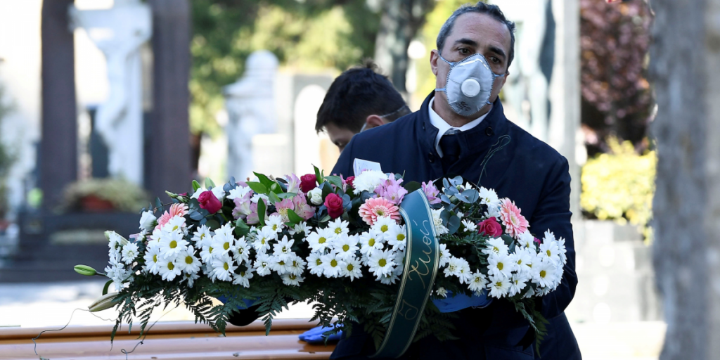 Coronavirus deaths are so high in Italy that some places have a waiting list for burials and funerals are happening with no family members there