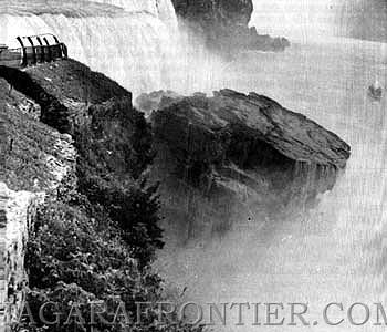 niagara falls collapse, The 1954 Prospect Point Rockfall at Niagara Falls, niagara falls collapse video