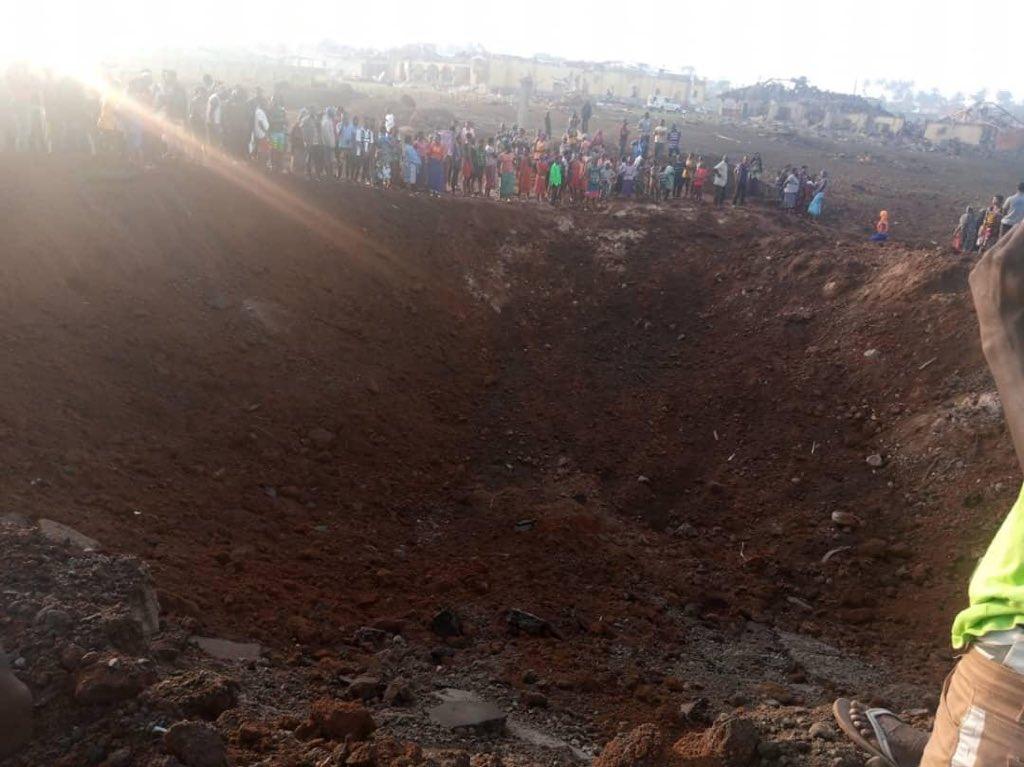 nigeria giant crater meteor impact, giant explosion crater nigeria, akure giant crater explosion meteor impact
