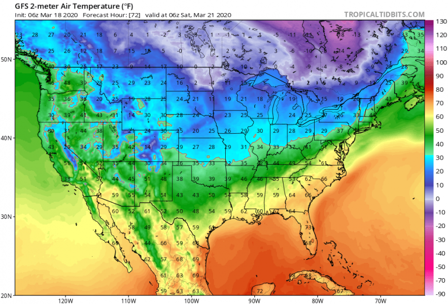 usa arctic blast march 2020