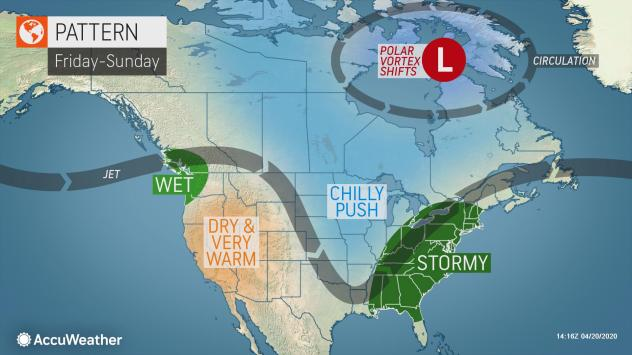 Extreme weather forecast for southern US for April 24-26