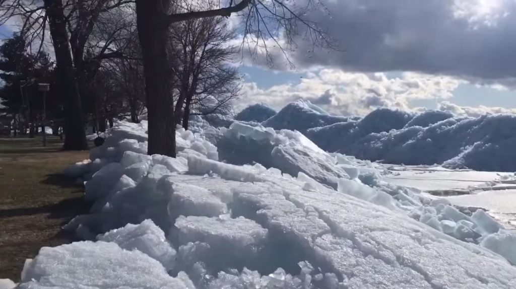 Ice tsunami on Mille Lacs Lake Minnesota on April 21, Ice tsunami on Mille Lacs Lake Minnesota on April 21 video, Ice tsunami on Mille Lacs Lake Minnesota on April 21 pictures, Ice tsunami on Mille Lacs Lake Minnesota on April 21 images
