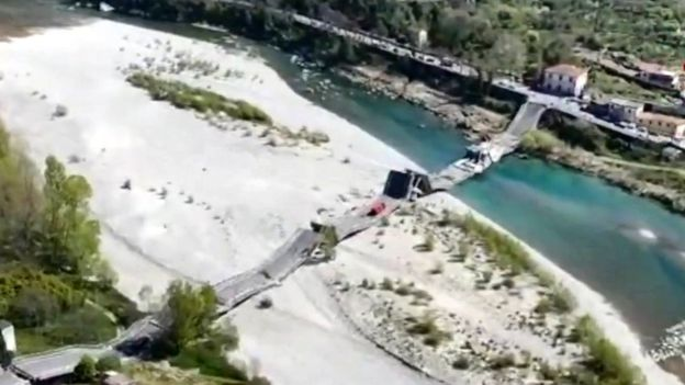 italy bridge collapse, italy bridge collapse videos, italy bridge collapse picture, italy bridge collapse april 2020