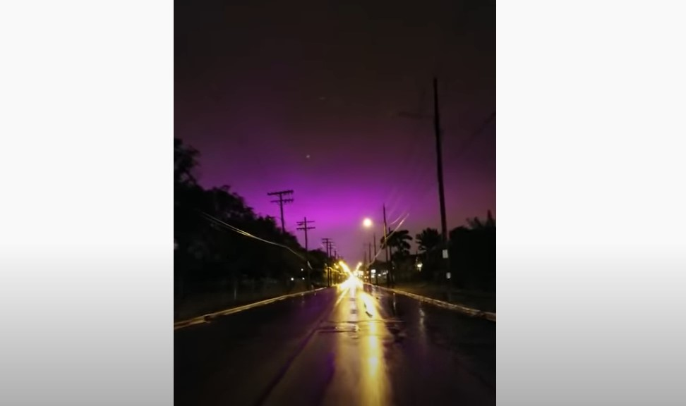 Mysterious purple and blue sky reported across the world in the US, Europe and Australia in April 2020, mysterious blue sky world, mysterious purple sky april 2020