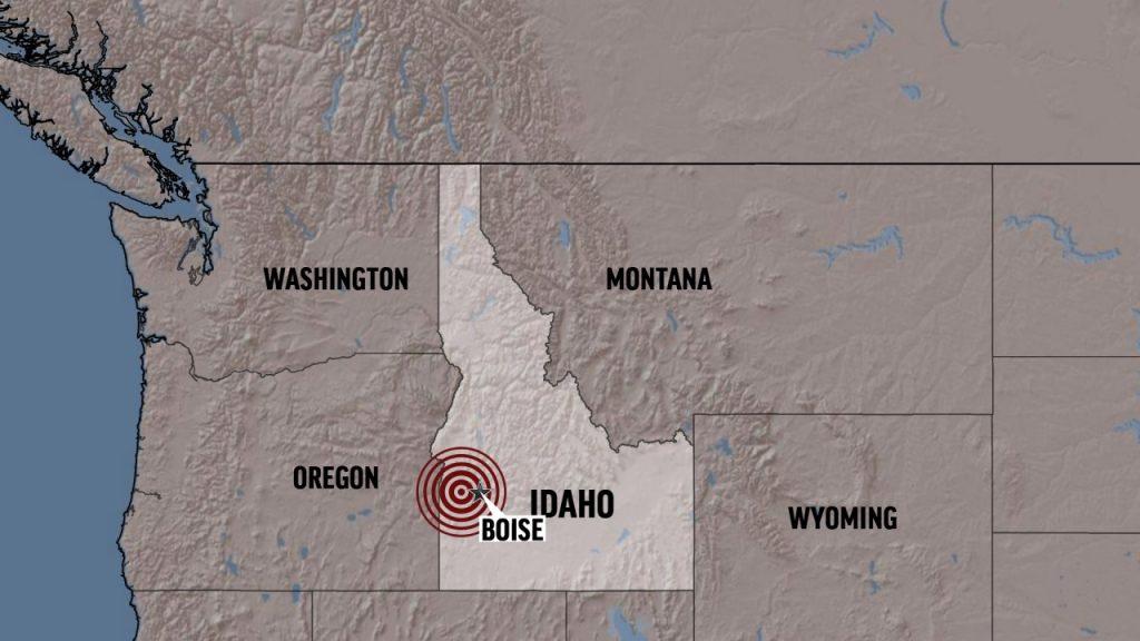 First an earthquake in Salt Lake, then one near Reno, Nevada and then near Boise, Idaho and a small shock felt through Yellowstone.
