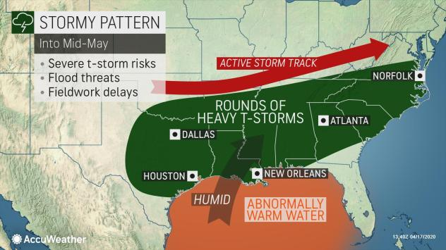 Next week severe storms across USA end of April 2020