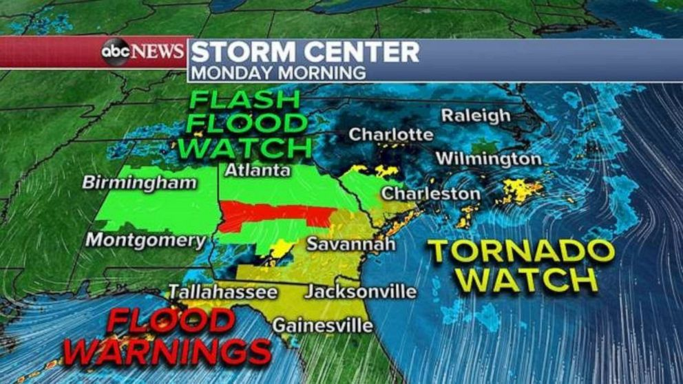 A storm system moving through the Southern U.S. has already brought at least 150 reports of severe weather from Texas to South Carolina, including 7 Reported tornadoes so far -- one in Texas and six in Mississippi.