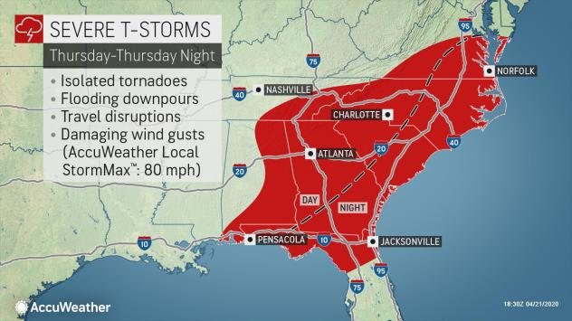 Violent weather outbreak forecast for Texas and Mississippi on April 22-23