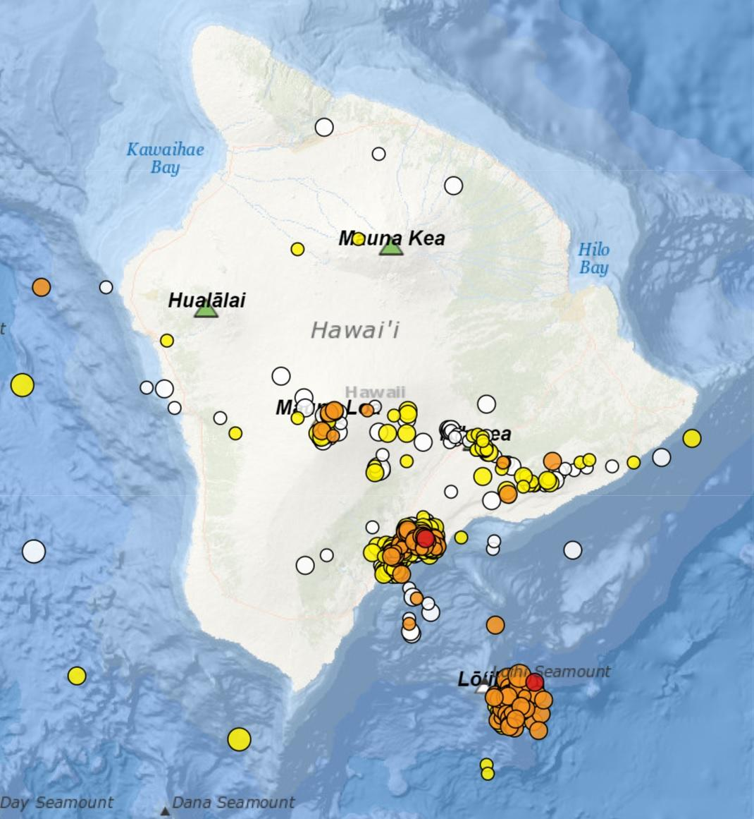 earthquake swarm loihi volcano hawaii, earthquake swarm loihi volcano hawaii map, earthquake swarm loihi volcano hawaii video