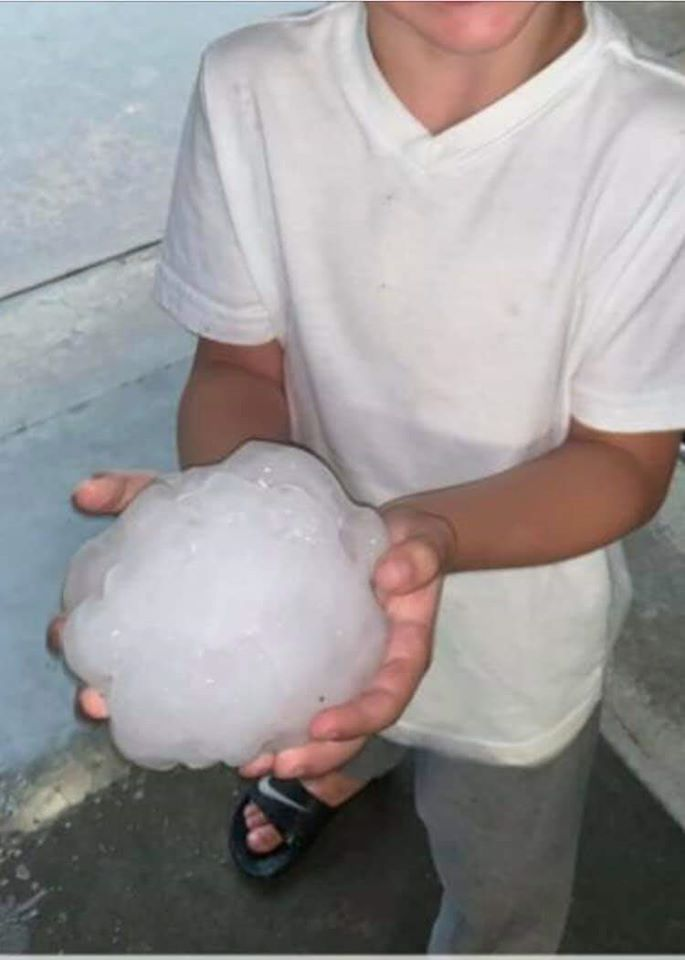 gigantic hail burk texas, gigantic hail burk texas may 2020, Gigantic hailstone makes ahole in a roof in Burkburnett, Gigantic hailstone makes ahole in a roof in Burkburnett pictures, Gigantic hailstone makes ahole in a roof in Burkburnett may 2020