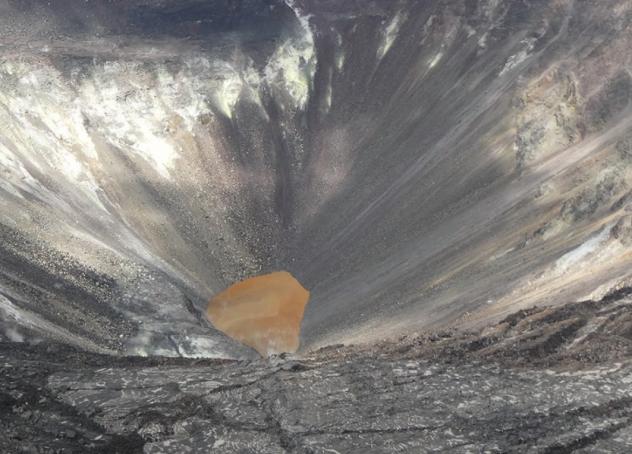 kilauea crater lake, kilauea crater lake video, kilauea crater lake picture