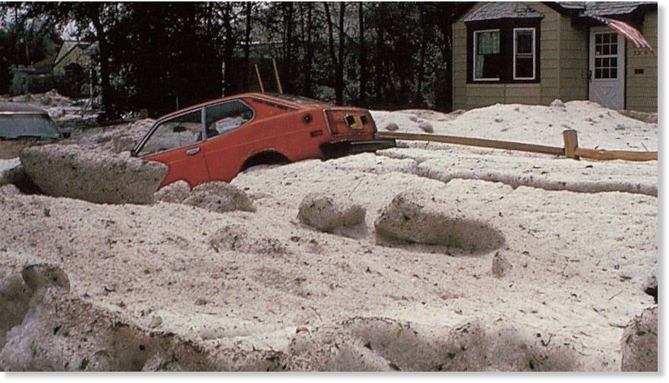 largest hailstones and hail records in the US