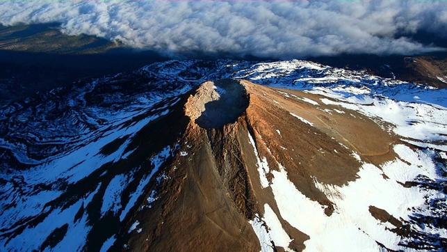 teide volcano crater, Crater of Teide Volcano