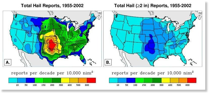 us hail map, which states face hail in usa, us hail map 2020