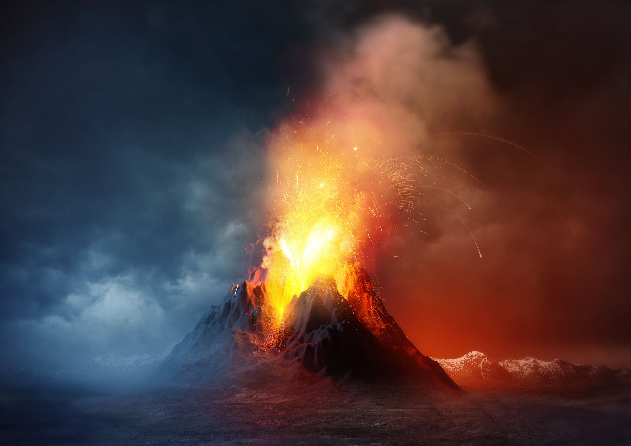Volcanic uptick with direct cooling effect around the world