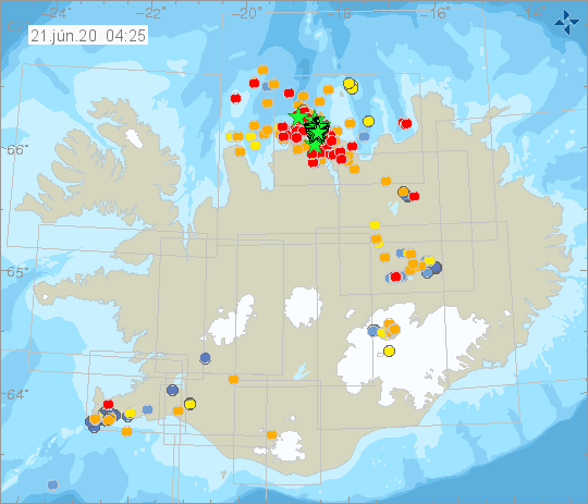earthquake swarm north iceland