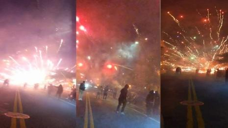 Mystery fireworks are being reported late at night in cities all over the country. Nobody seems to know why.