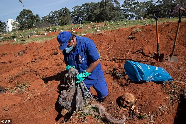 gravediggers brazil dig up bodies to make some room for covid dead