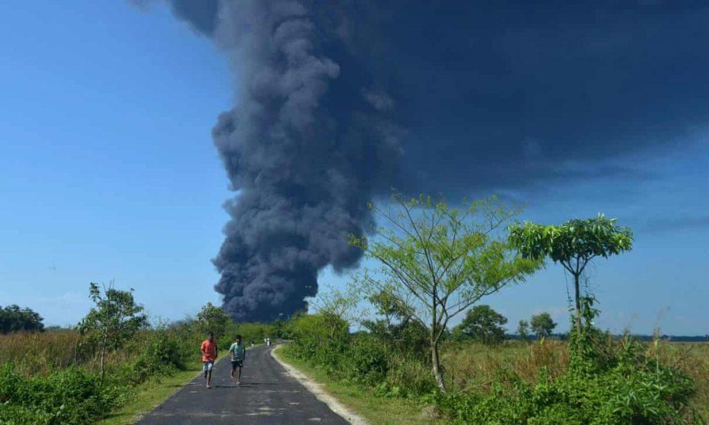 india oil field inferno, india oil field inferno june 2020, india oil field inferno pictures, india oil field inferno videos