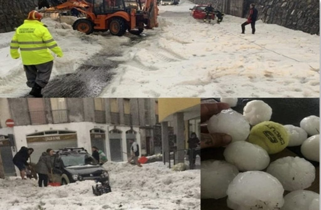 Extreme hailstorms slam Lombardy in Italy, Extreme hailstorms slam Lombardy in Italy video, Extreme hailstorms slam Lombardy in Italy pictures, Extreme hailstorms slam Lombardy in Italy june 2020