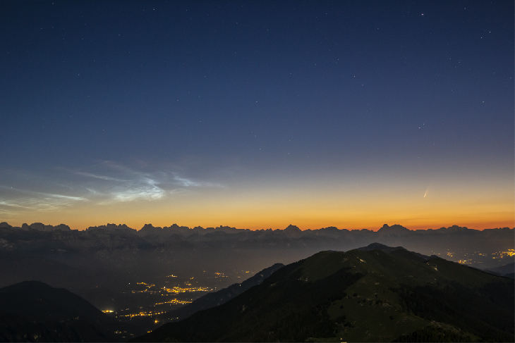 Comet NEOWISE with noctilucent clouds nlc, Comet NEOWISE with noctilucent clouds nlc pictures, Comet NEOWISE with noctilucent clouds nlc video