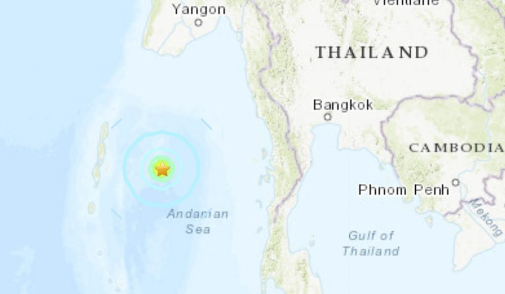 M6.1 earthquake Port Blair India july 17 2020