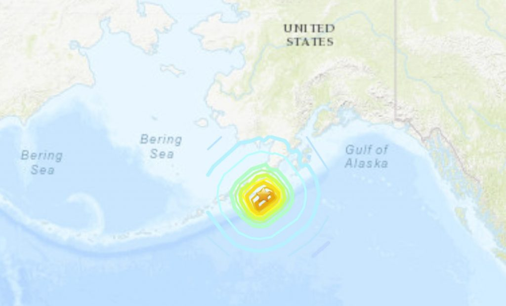 M7.8 earthquake hits Alaska on July 22 2020, alaska earthquake july 2020