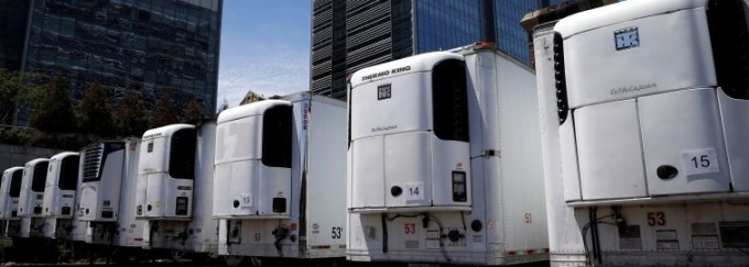 Refrigerated trucks are being sent to Texas and Arizona in anticipation of a spike in coronavirus deaths in the two southern states