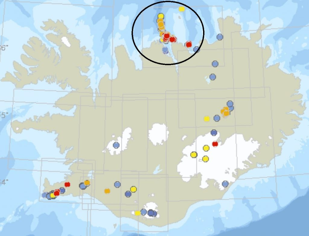 earthquake swarm iceland 2020, More than 13,000 earthquakes hit NE of Siglufjörður in the largest seismic swarm in 40 years in the area