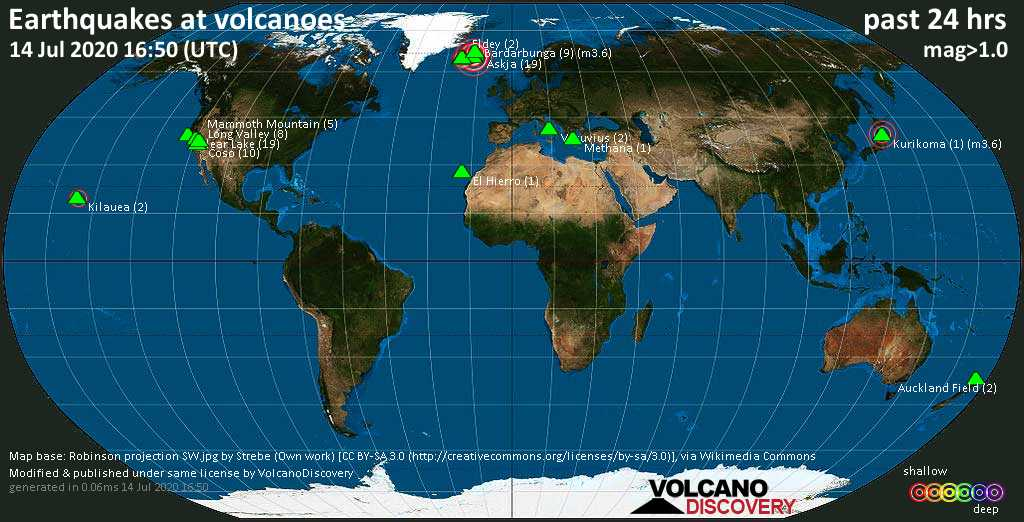 earthquakes at volcanoes, earthquakes at volcanoes map, earthquakes at volcanoes july 2020, earthquakes at volcanoes video
