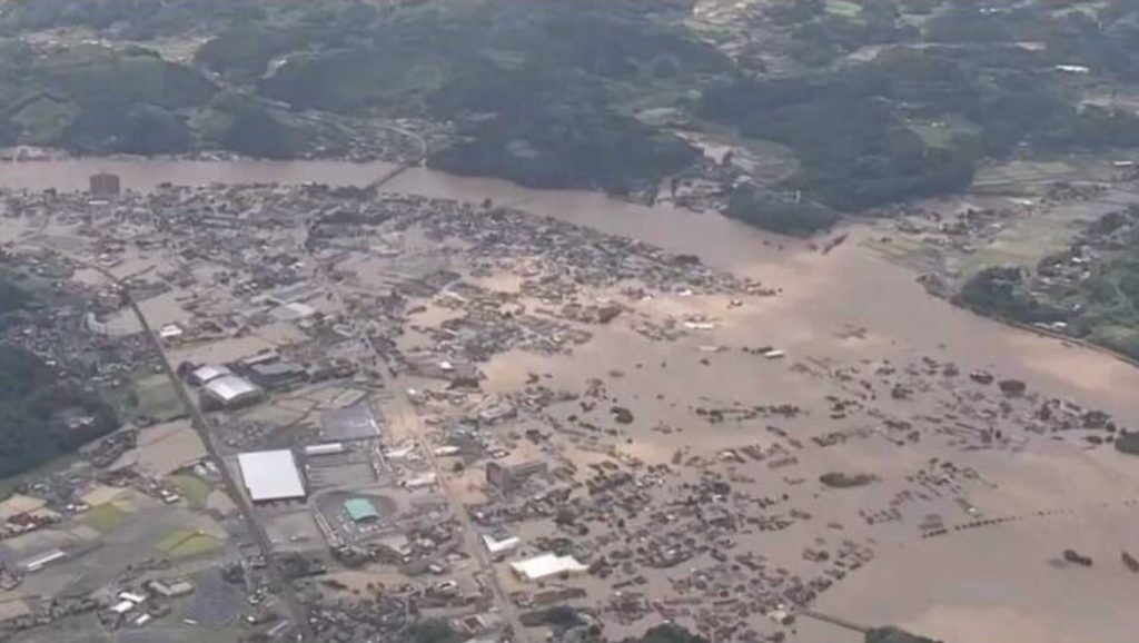 japan floods july 2020, japan rains, japan weather anomaly, japan rain apocalypse, Flooding and landslides caused by unprecedented rain in southern Japan have left at least 60 people dead