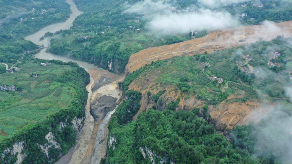 landslide blocks river china, landslide blocks river china july 2020, landslide blocks river china video, landslide blocks river china pictures