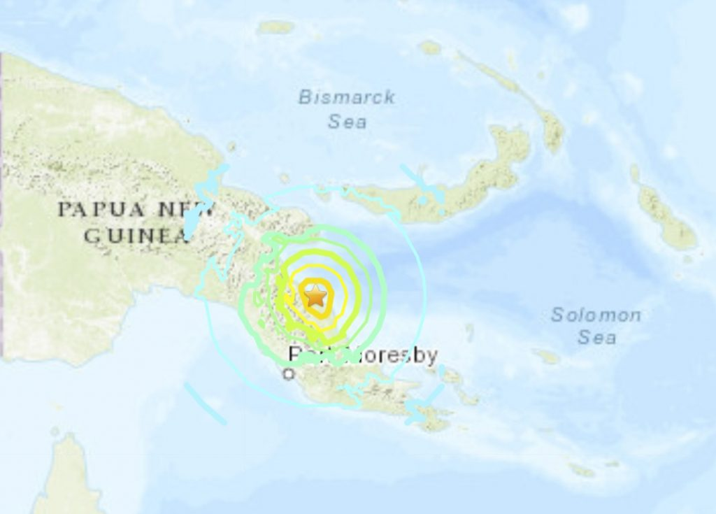 papua new guinea M7.0 earthquake july 17 2020