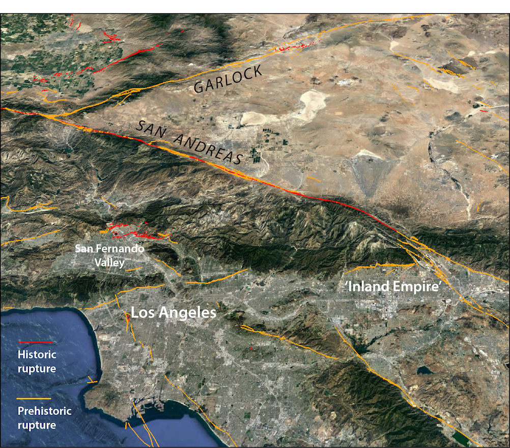 Millions of people live in the area of the San Andreas fault which is overdue for a big earthquake