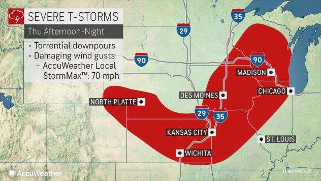 Severe weather is about to slam the Plains and Midwest to end the week, Severe weather is about to slam the Plains and Midwest to end the week july 2020