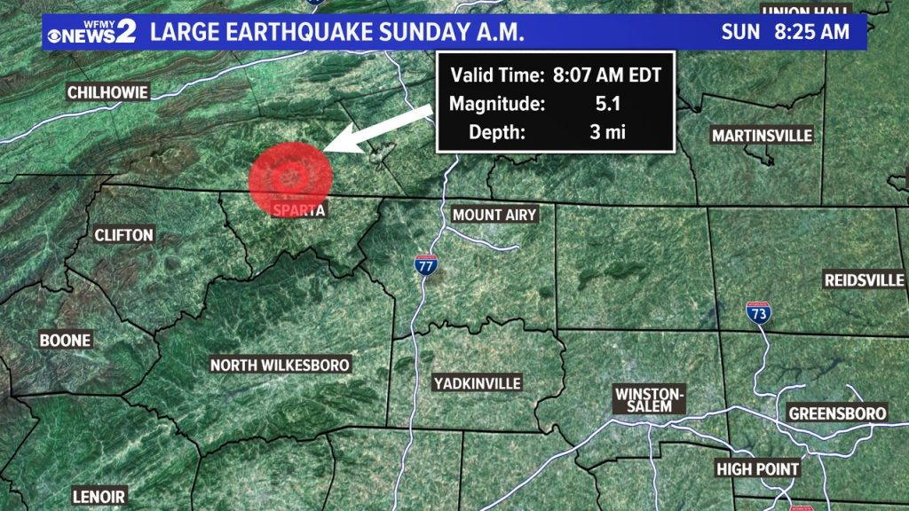 M5.1 earthquake hits North Carolina on August 9 2020, M5.1 earthquake hits North Carolina on August 9 2020 video, M5.1 earthquake hits North Carolina on August 9 2020 picture