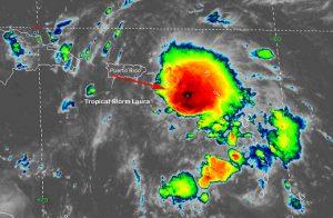 rare weather phenomena above hurricane laura august 2020