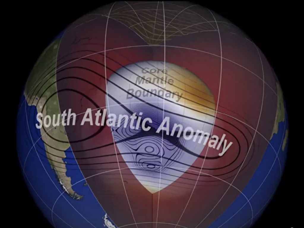 south atlantic anomaly splitting in two