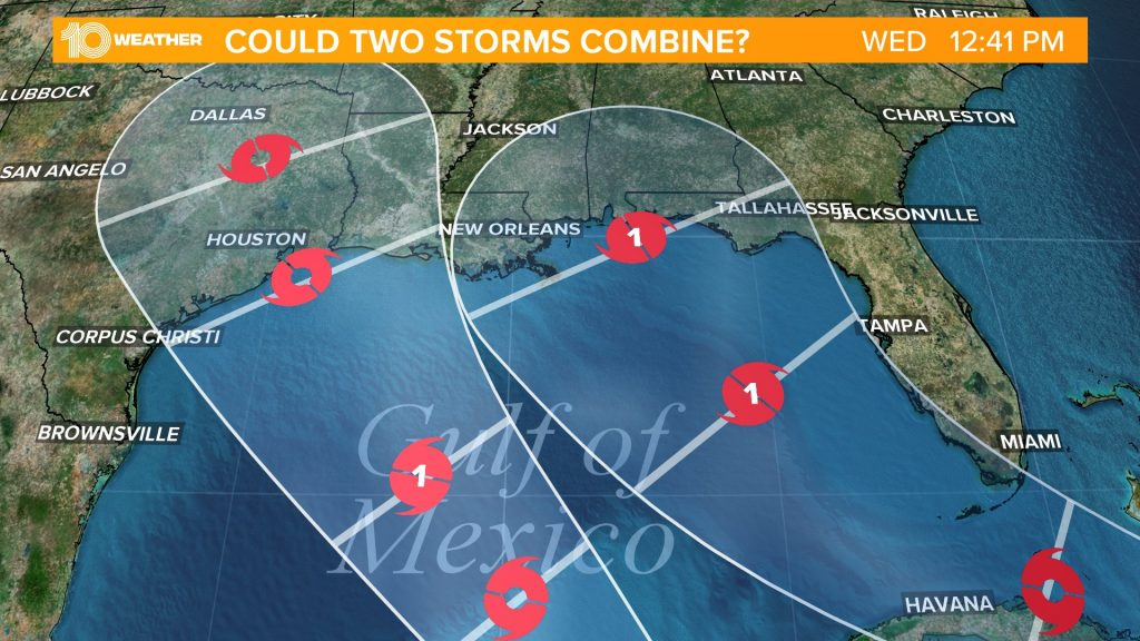Extremely rare weather event is unfolding in the Gulf of Mexico: Extremely rare: TWO hurricanes are forecasted in the Gulf of Mexico next week and we have never seen it before