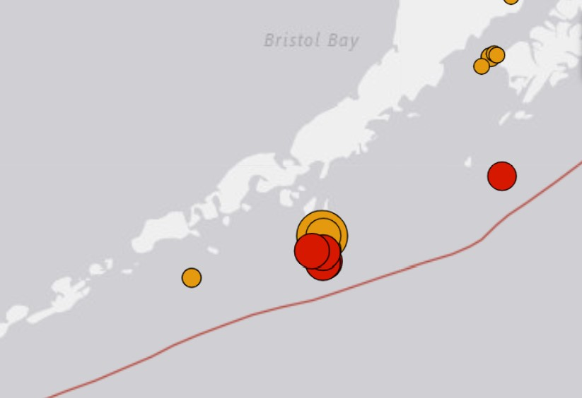 M7.4 earthquake alaska october 19 2020