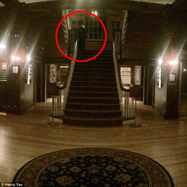 Ghosts in the haunted Stanley Hotel in Estes Park