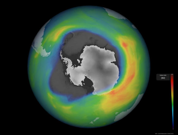 The 2020 ozone hole over Antarctica is one of the largest and deepest ever