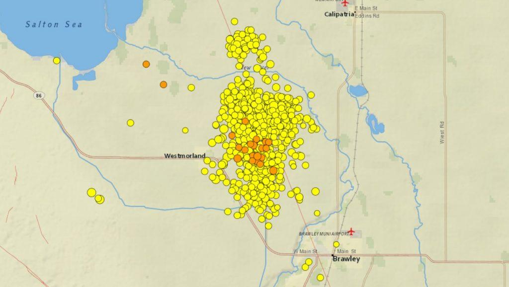 salton sea earthquake swarm september-october 2020, Earthquake Forecast for the Westmorland Swarm beginning September 30