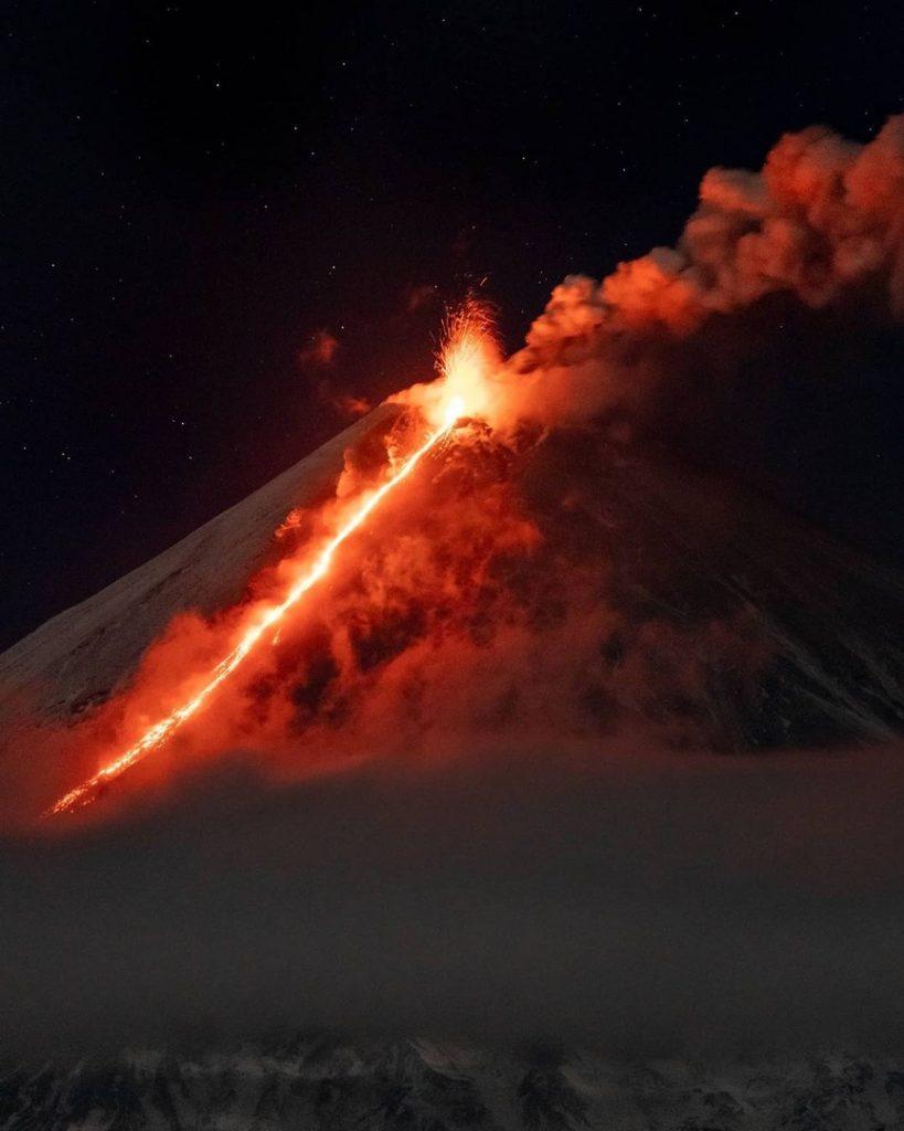 Klyuchevskoy volcano, Klyuchevskoy volcano eruption, eruption kamchatk volcano