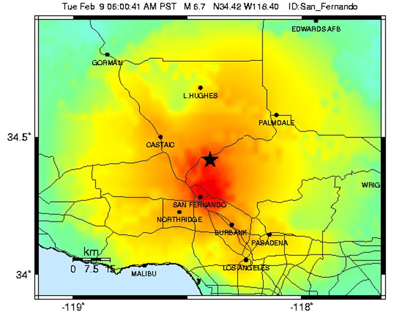 deadliest earthquake usa 1971 San Fernando earthquake
